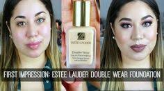 first impression review estee lauder double wear foundation lets learn makeup