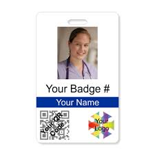 Photo Vertical With Qr Wizard Card - Code Id Nametag