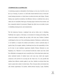 cover letter online education essay online education essay outline  cover letter compare and contrast essay a traditional class vs an onlineonline education essay