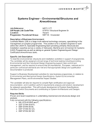 structural engineer job description systems engineer environmental structures