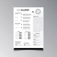 Curriculum Template With Timeline Vector Free Download