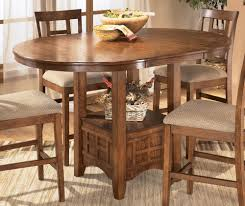 wood expandable round dining table