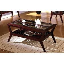 excellent endearing dark cherry wood furniture coffee table intended for modern small square full size