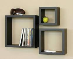 Wall Bookshelf Furniture Diy Floating Wall Shelves Wooden Wall Shelf Unit For