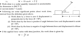 Work Energy And Power Class 11 Notes Physics Chapter 6