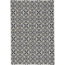 capel elsinore tile midnight blue 5 ft x 8 ft indoor outdoor