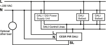 cesr pir dali cesra pir dali danlers lighting controls hvac cesr pir dali controlling several dali dimmable ballasts