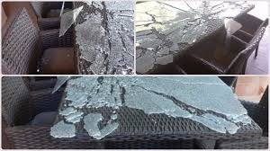 glass table tops can suddenly explode for no specific reason