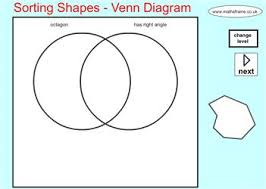 Sorting 2d Shapes Venn Diagram Ks1 Sorting Shapes Venn Diagram Mathsframe Maths Zone Cool