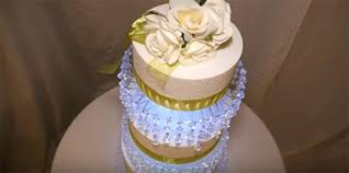 idea how to make chandelier cake stand for 3 tier lit chandelier wedding cake stand 58