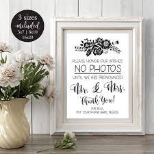Please No Photos Wedding Sign Printable Rustic No Cell Phone Etsy