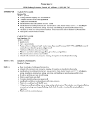 Cable Installer Resume Samples Velvet Jobs