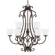 franklin iron works amber scroll 32 wide 9 light chandelier franklin iron works amber art glass