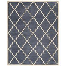 safavieh ham grey 8 ft x 10 ft area rug