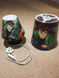 ben 10 lamp shade and bedside light