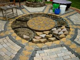 installing pavers over concrete patio elegant wow thats a busy garden creating a paver and pebble