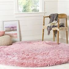 round pink rug. Safavieh Pink Rug Polar Shag Light Polyester Round Free .