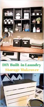 diy wood crate built in laundry storage makeover instructions diy wood crate furniture ideas projects