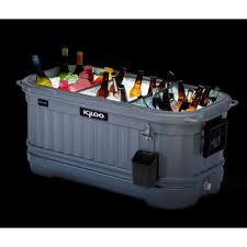 Igloo Ice Chest With Led Lights Igloo 125 Qt Party Bar Liddup Illuminated Cooler 49271