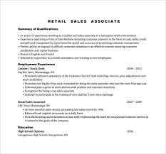 Sales Associate Resume Template 65 Images Retail Store