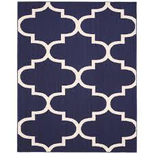 garland rug large quatrefoil indigo ivory 8 ft x 10 ft area rug