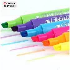 <b>6 piece</b>/<b>lot</b>,Highlighter marker,Brands Fluorescent marker pen,Office ...