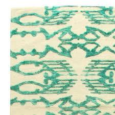 blue ikat rug for at wool navy kilim adira