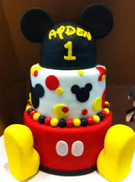 11 Mickey Mouse First Birthday Cakes For Boys Photo Mickey Mouse