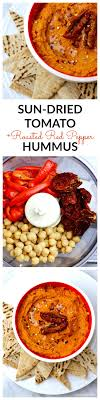 roasted red pepper sun dried tomato hummus