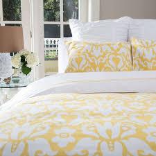 yellow and white bedding. Montgomery Yellow Duvet Gorgeous Via Craneandcanopycom White Bedding Set Damask Inside And