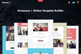 Mailchimp Responsive Design Template Announce 4x Responsive Notification Email Marketing