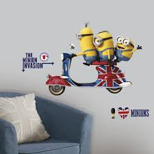 Minions Bedroom Wallpaper Roommates Rmk3002gm Minions The Movie Peel And Stick Giant Wall