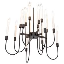 mid century 16 light lightolier chandelier for