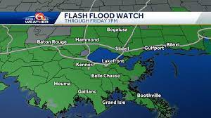 Flash flood watch extended for New Orleans