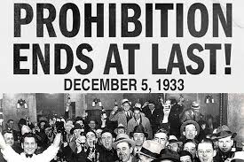 Image result for The 18th Amendment was repealed in 1933