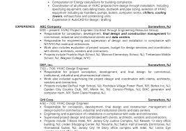 Cover Letter Mechanical Engineering Hvac Design Engineer Resumes