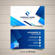 business card tamplate business card template with geometric shapes vector free
