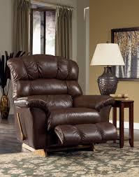 La Z Boy Bedroom Furniture Furniture Dark Leather Stylish Recliner For Traditional Room Decor