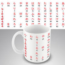 New Design Educational Coffee Mug Hiragana Japanese Chart Alphabet ...