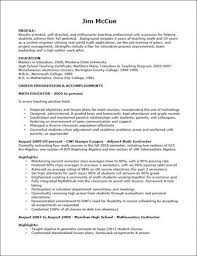 Great Objectives For Resumes Teaching Objectives For Resume Best Resume Collection 88