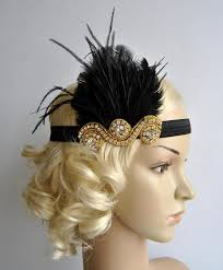 Gold And Black The Great Gatsby20s Flapper Headpiece Bridal 1920s
