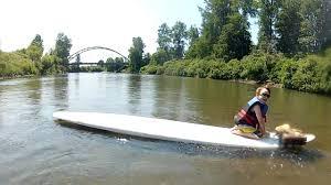 homemade paddle board setup