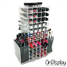 OnDisplay Rotating Acrylic Cosmetic/Makeup Organizer, Clear