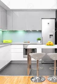 Modern Kitchen Interiors A View Of A Modern Kitchen Interior Stock Photo Picture And