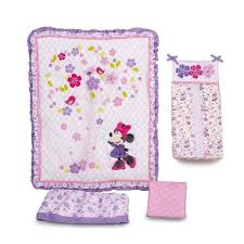 bedding sets by kidsline disney baby minnie mouse love blossoms premier 4 piece
