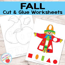 Cut and paste printables offer kids an opportunity to learn the basics in a fun way. Free Fall Cut And Glue Worksheets Easy Peasy Learners