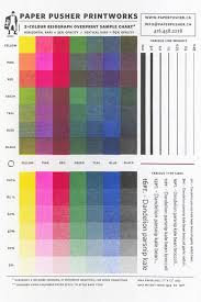Color Two Color Overprint Print Chart From Paper Pusher