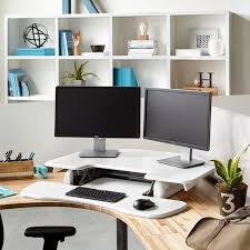 home office standing desk. the cube corner 36 white is a slightly smaller version of original 48 standing desk itu0027s designed to maximize usable space in your home office