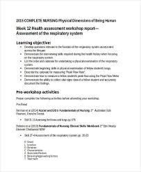 Physical Assessment Form Mesmerizing 44 Nursing Assessments Examples Samples