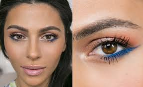 colorful spring makeup and colored eyeliner tutorial